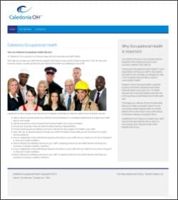 First Step Website - Caledonia Occupational Health