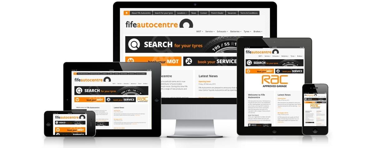 Fife Autocentre website design